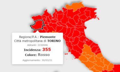 Incidenza Piemonte in calo ma numeri sempre troppo alti, da zona rossa