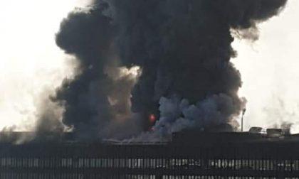 Impressionante incendio all'ex palazzo uffici di Fiat Engeneering a Torino