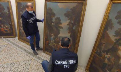Ritrovate dai carabinieri opere d'arte sottratte al castello di Moretta nel '98