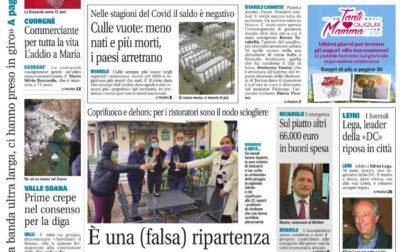 Il Canavese – edizione Rivarolo (del 28 aprile) in edicola. Ecco la prima pagina