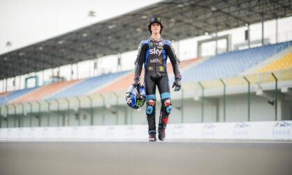 Celestino Vietti Ramus in sella alla Moto2 in Qatar