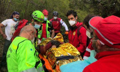 Soccorso Alpino salva biker caduto lungo i sentieri al Colle della Maddalena