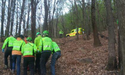 Ciclista cade rovinosamente a Belmonte, intervento del Soccorso Alpino