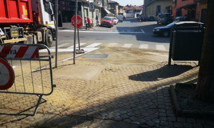 Ultimati i lavori in via Matteotti a Favria: il buco ora non c'è più