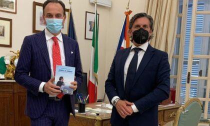 Un pò di Rocca Canavese al presidente della Regione Alberto Cirio