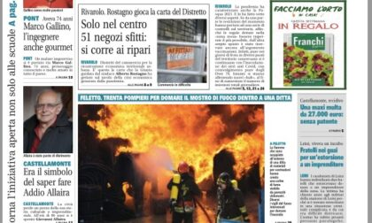 Il Canavese – edizione Rivarolo (del 07 aprile) in edicola. Ecco la prima pagina