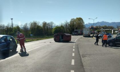 Incidente a San Giorgio, tre mezzi coinvolti