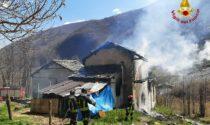 Incendio in un'abitazione a Viù