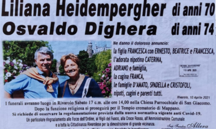 Funerali di Osvaldo Dighera e Liliana Heidempergher, oggi l'ultimo saluto a due delle vittime della strage di Rivarolo