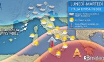 """3BMeteo.com: """"Italia a due facce: maltempo al nord e caldo al sud"""""""