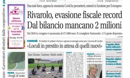 Il Canavese – edizione Rivarolo (del 05 maggio) in edicola. Ecco la prima pagina