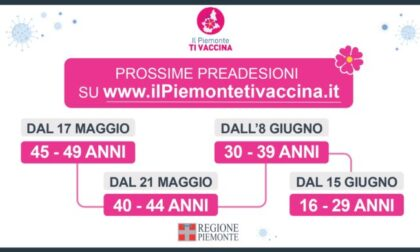 Vaccino Covid, preadesioni over 40 anticipate al 17 maggio
