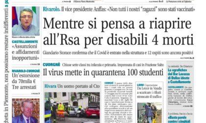 Il Canavese – edizione Rivarolo (del 19 maggio) in edicola. Ecco la prima pagina