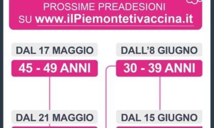 Vaccino Covid, da oggi al via la prenotazione  per la fascia 45-49 anni