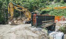 Opere di rifacimento del ponte pericolante ad Alpette già in fase avanzata