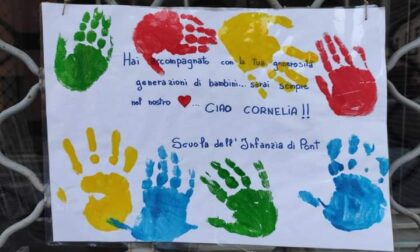 Anche i bimbi dell'infanzia hanno ricordato Cornelia Roncaglia