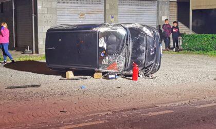 Schianto frontale a Favria, due auto coinvolte