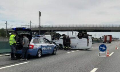 Incidente sull'A4 tra Volpiano e Settimo Torinese