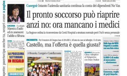 Il Canavese – edizione Rivarolo (del 07 luglio) in edicola. Ecco la prima pagina