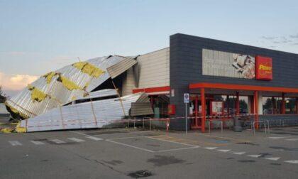 Bomba d'acqua sul Piemonte, a Novara crolla tetto di un supermercato
