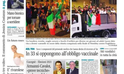 Il Canavese – edizione Rivarolo (del 14 luglio) in edicola. Ecco la prima pagina