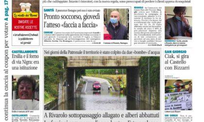 Il Canavese – edizione Rivarolo (del 28 luglio) in edicola. Ecco la prima pagina