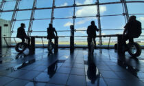 All'aeroporto di Caselle il cellulare si ricarica... pedalando