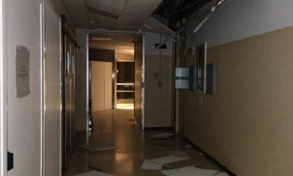 Forti raffiche di vento nella notte in Canavese, a Ivrea crolla il controsoffitto all'ospedale