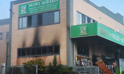 Incendio alla Nuova Agraria di San Giorgio Canavese