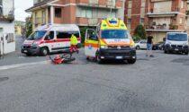 Incidente a Cuorgnè, scontro tra auto e moto
