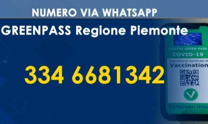 Informazioni sul Green pass via Whatsapp, il nuovo servizio della Regione Piemonte