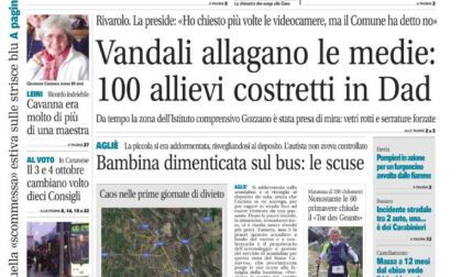Il Canavese – edizione Rivarolo (del 29 settembre) in edicola. Ecco la prima pagina