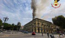 Brucia palazzina in via Carlo Felice