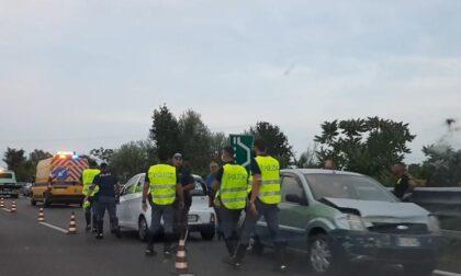 Incidente sulla Torino Caselle, tre auto coinvolte