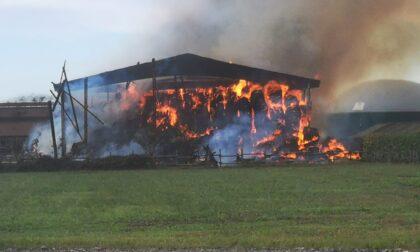 Incendio alla Cascina Mellano in Borgata Vittoria