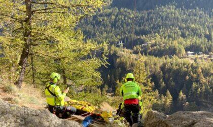 Precipita da 10 metri a Ceresole: recuperato dal Soccorso Alpino