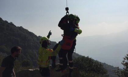 Recuperato alpinista nel cuneese: sospetta frattura alla gamba